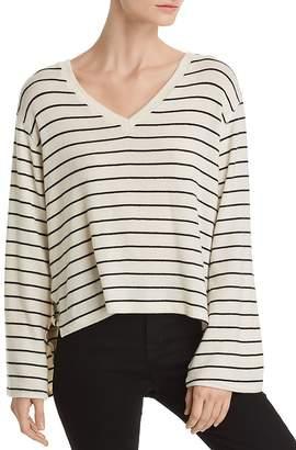 LnA Lilia Side-Vent Striped Sweater