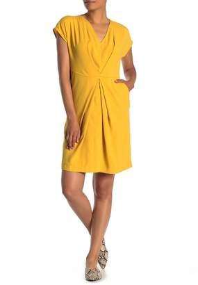 Kenneth Cole New York Origami Pleated Satin Dress