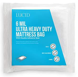 LUCID 6 Mil Ultra Heavy Duty Mattress Bag for Moving