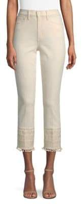 Tory Burch Lana Lace-Trim Jeans
