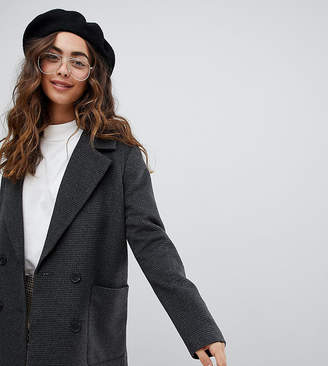 Monki Checked Double Breasted Jacket