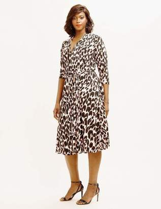Leota Mahlia Dress in Painted Leopard Rose Size 1L Polyester