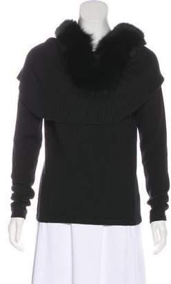 Cassin Fur-Trimmed Cashmere-Blend Sweater