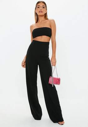 e7ba8780be5 Missguided Tall Black Stretch Crepe Wide Leg Pants