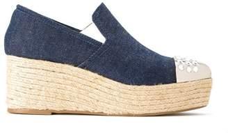 Andrea Bogosian wedge slippers