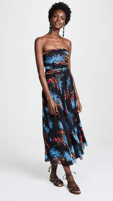 Diane von Furstenberg Strapless Mesh Dress