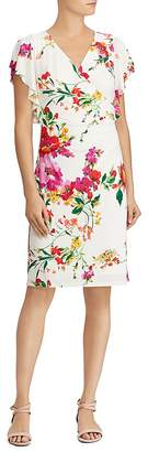 Lauren Ralph Lauren Faux-Wrap Floral Jersey Dress