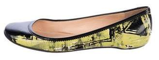 Christian Louboutin Patent Leather Printed Flats