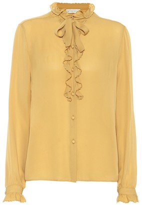 Etro Ruffle-trimmed silk blouse