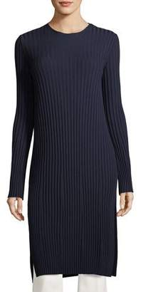 The Row Minnie Crewneck Ribbed Wool Tunic