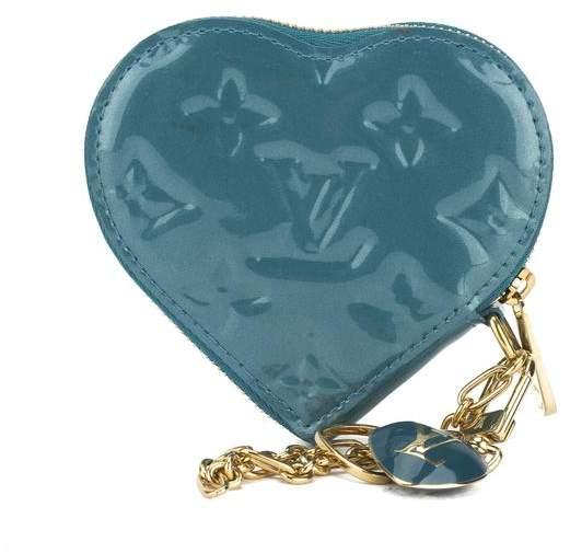 Louis VuittonLouis Vuitton Blue Galactic Monogram Vernis Heart Coin Purse (Pre Owned)