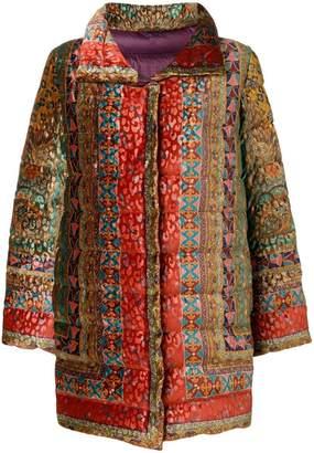 Etro mixed print padded coat