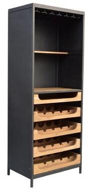Gracie Oaks Jeanlouis Teak 16 Bottle Floor Wine Rack Gracie Oaks