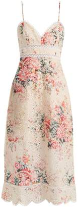 Zimmermann Laelia floral-print broderie-anglaise dress