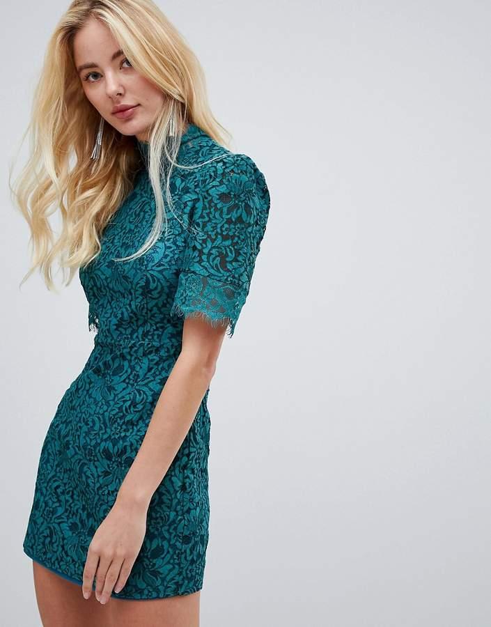 Fashion Union high neck lace dress