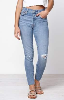 Levi's Medium Indigo Wedgie Skinny Jeans