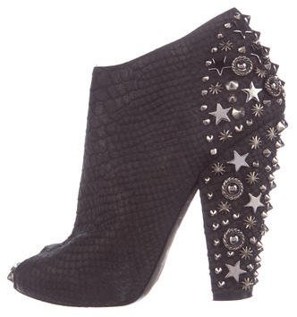 Givenchy Leather Embellished Booties