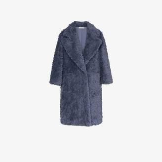 Vika Gazinskaya Faux Fur Oversized Coat