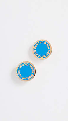 Marc Jacobs Logo Disc Stud Earrings