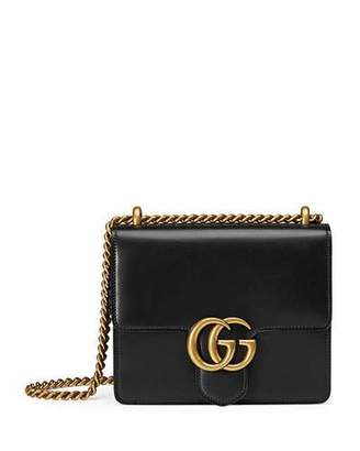 Gucci GG Marmont Small Leather Shoulder Bag, Black $1,750 thestylecure.com