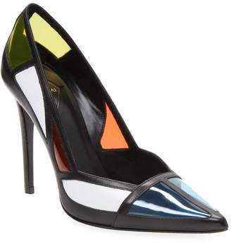 Aperlaï Women's Colorblock High Heel Sandal