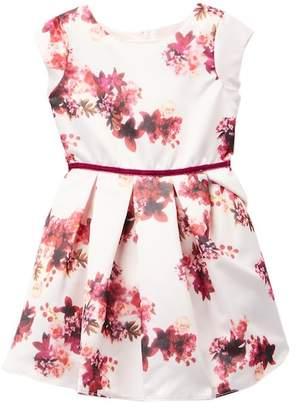 Dorissa Barbara Floral Satin Dress (Little Girls)