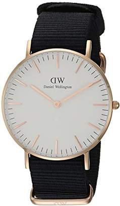 Daniel Wellington 'Classic' Quartz Gold and Nylon Casual Watch