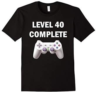 Level 40 Complete Funny Video Games 40th Birthday T-Shirt