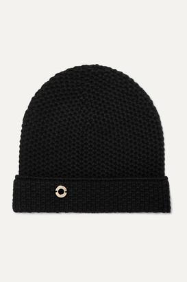 Loro Piana Rougemont Crocheted Cashmere Beanie - Black