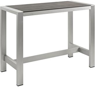 Modway Outdoor Shore Outdoor Patio Aluminum Rectangle Bar Table