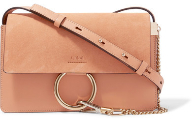 Chloé - Faye Small Leather And Suede Shoulder Bag - Blush