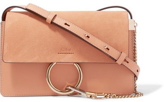 Chloé - Faye Small Leather And Suede Shoulder Bag - Blush $1,390 thestylecure.com