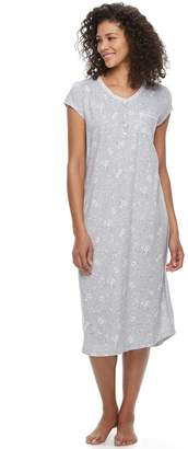 Croft & Barrow Women's Pajamas: Lace V-Neck Nightgown