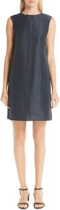 Mansur Gavriel Cotton & Silk Taffeta Shift Dress