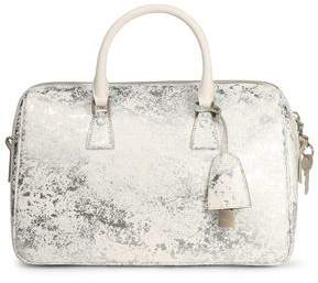 Maison Margiela Woman Metallic Coated Faux Leather Shoulder Bag White Size Maison Martin Margiela