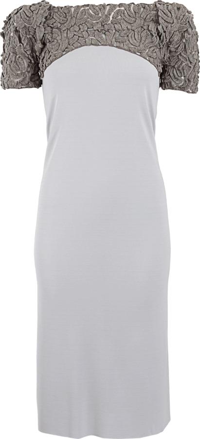 Roland Mouret Lace Detail Jersey Breghert Dress