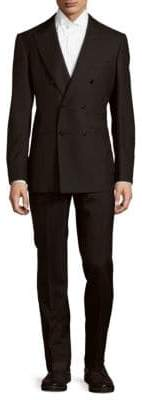 Modern Fit Double-Breasted Wool Suit