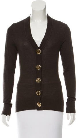 Tory Burch Tory Burch Long Sleeve Wool Cardigan