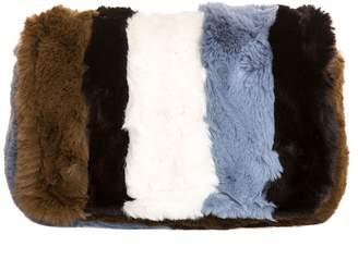 Essentiel Antwerp Striped Faux Fur Shoulder Bag