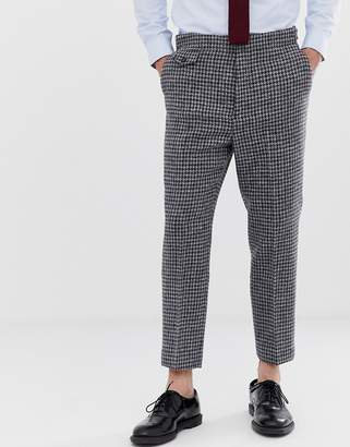 Asos Design DESIGN tapered smart pant in 100% wool Harris Tweed check