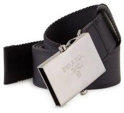 Prada Logo Nylon Belt $195 thestylecure.com