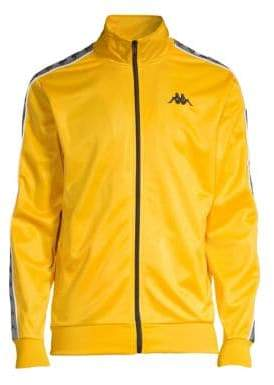 Kappa Men's Authentic Batrack Track Jacket - Yellow Black Silver - Size Large