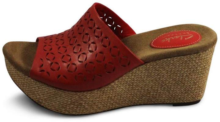 Clarks Clarks Red Wedge Sandal