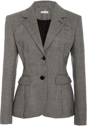 Altuzarra Fenice Plaid Wool-Blend Blazer
