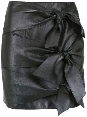 Nk leather lace up skirt