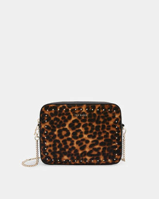 Ted Baker SAVANNA Leopard micro stud leather cross body bag
