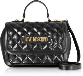 Love Moschino New Quilted Eco Leather Top Handle