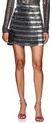 Derek Lam 10 Crosby Women's Sequined Chiffon Miniskirt - Black