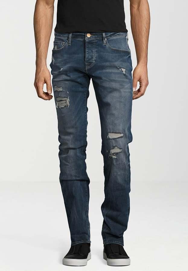 true religion rocco jeans straight leg destroyed blue paint herren. Black Bedroom Furniture Sets. Home Design Ideas