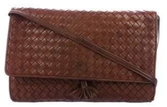 Bottega Veneta Intrecciato Crossbody Bag Brown Intrecciato Crossbody Bag